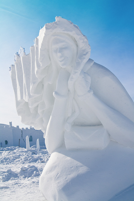 Snow Sculptures Around The World - Windy